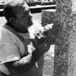 Working on a memorial at Eastern Suburbs Memorial Park, which was also featured in the book ' Tender Sympathies' (circa late 1980s)